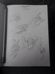 Hand Study/Gesture Drawing by KoiCatCreations