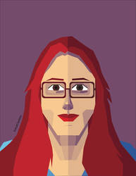 Digital Self Portrait 2016 by KoiCatCreations