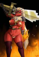 Blaziken Warrior by Drako1997