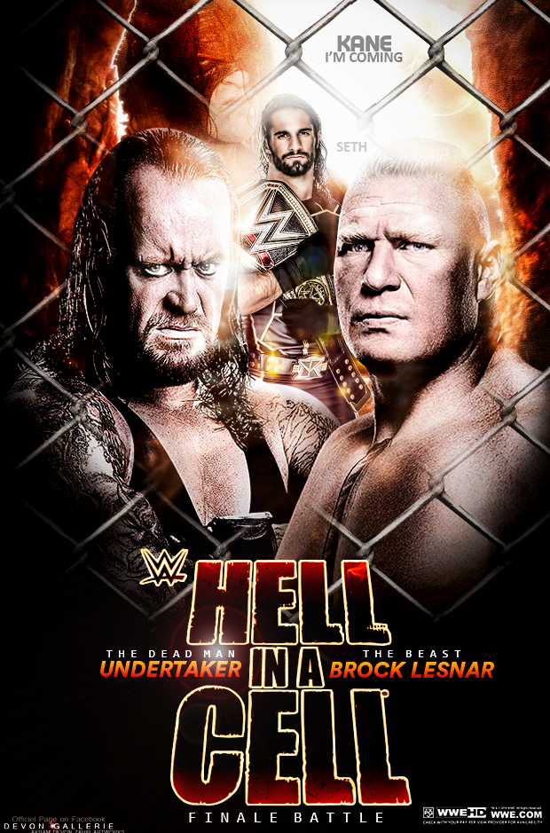 WWE Hell In a Cell 2015 Poster by workoutf