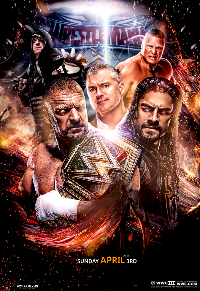 Image result for wrestlemania 32 poster