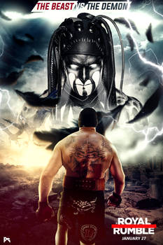 WWE Royal Rumble 2019 Poster Lesnar Vs Balor