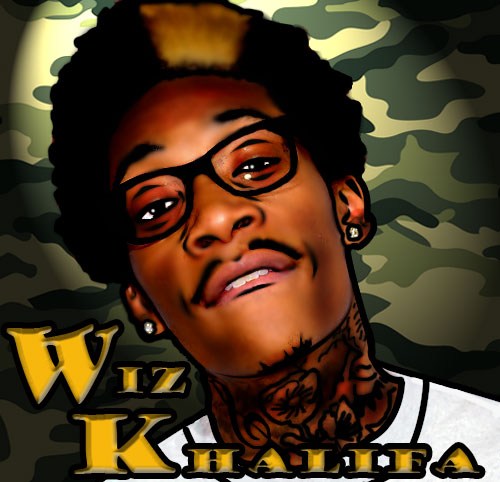 wiz_khalifa_background_by_cjigraphix-d5bq8js List Of American Artists And Their Real Names; Nicki Minaj, Jay Z, Justin Bieber, Lil Wayne…See More