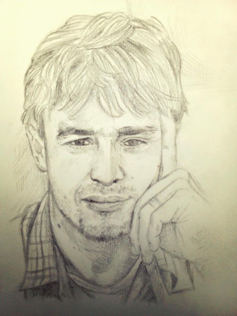 Dad - pencil portrait by AgataBorghesan