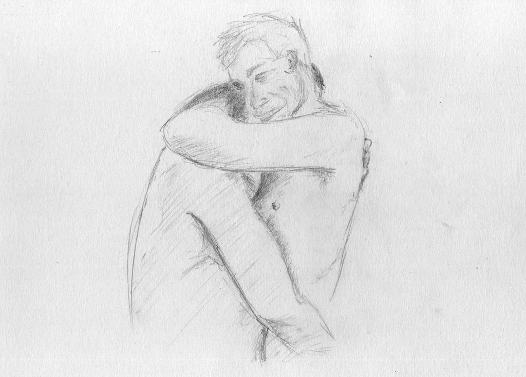 Pencil Drawings Of People Hugging Men hugging by garynip
