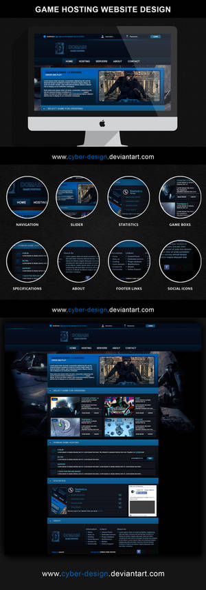 D.G.H. - Domain game hosting psd design web site