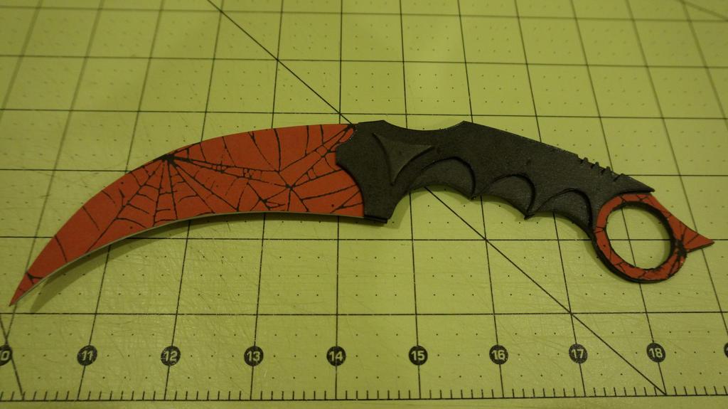 Как сделать нож cs go из бумаги