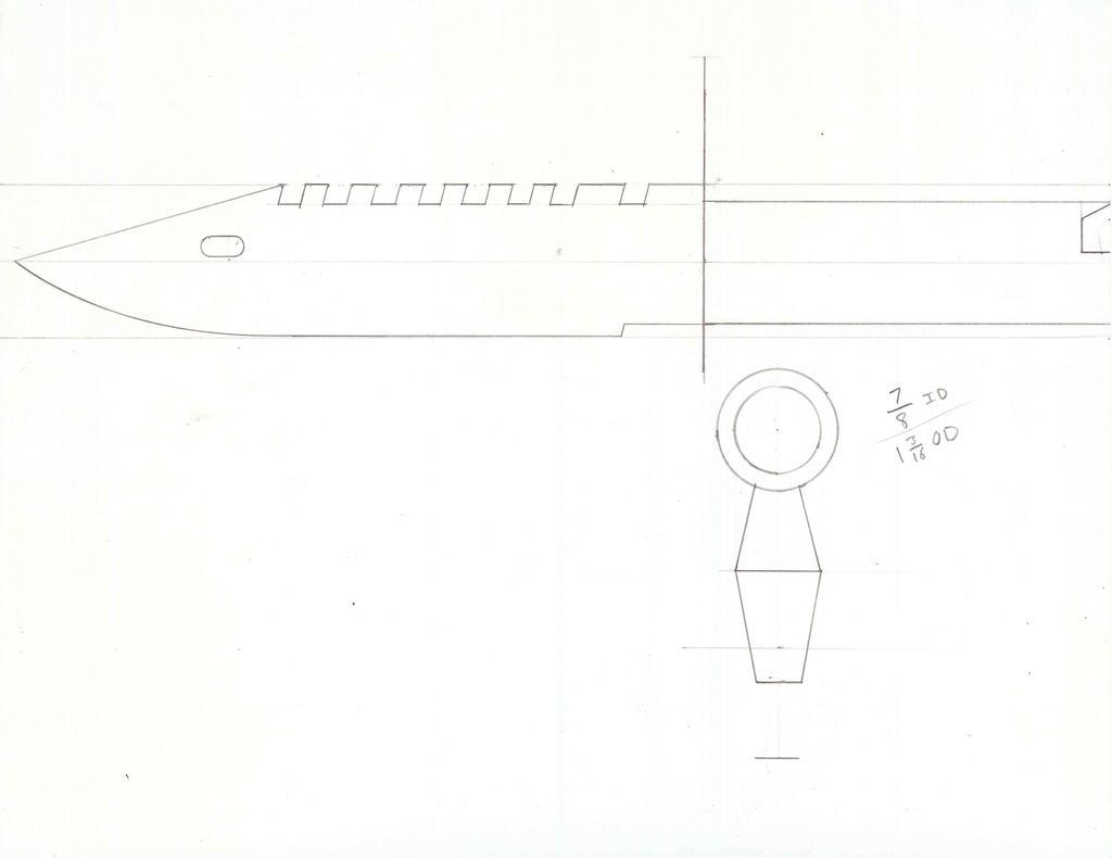Как сделать из бумаги штык нож 586