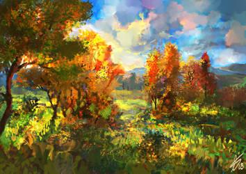 Speedpainting   Autumn by LaurensSpruit