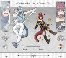 [ OPEN ] Adoptables   Data element { snow / lava }