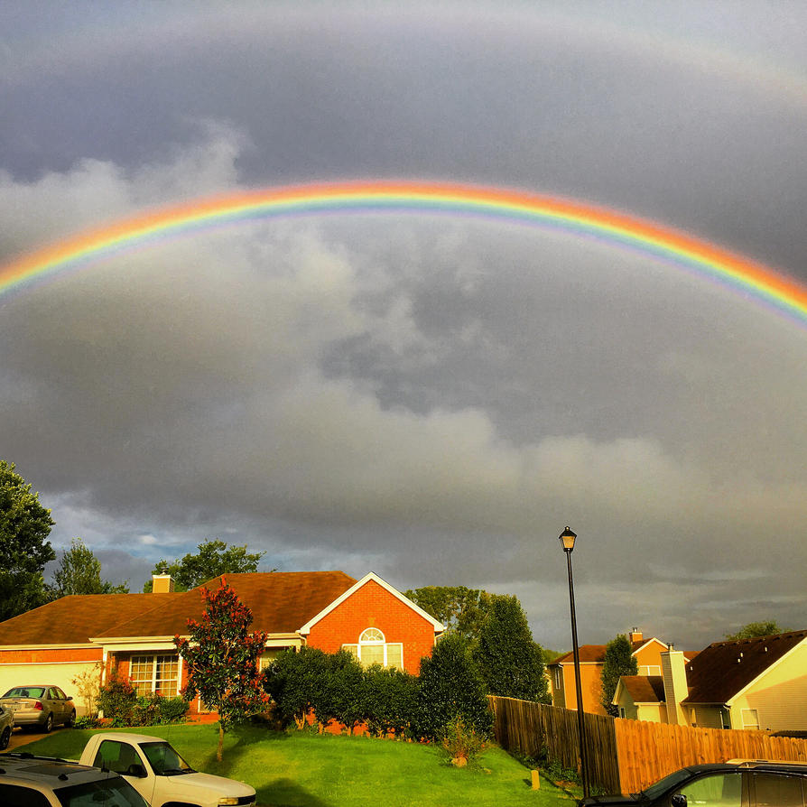 Rainbow arch by drufusthedufus18 on deviantart for How to make a rainbow arch