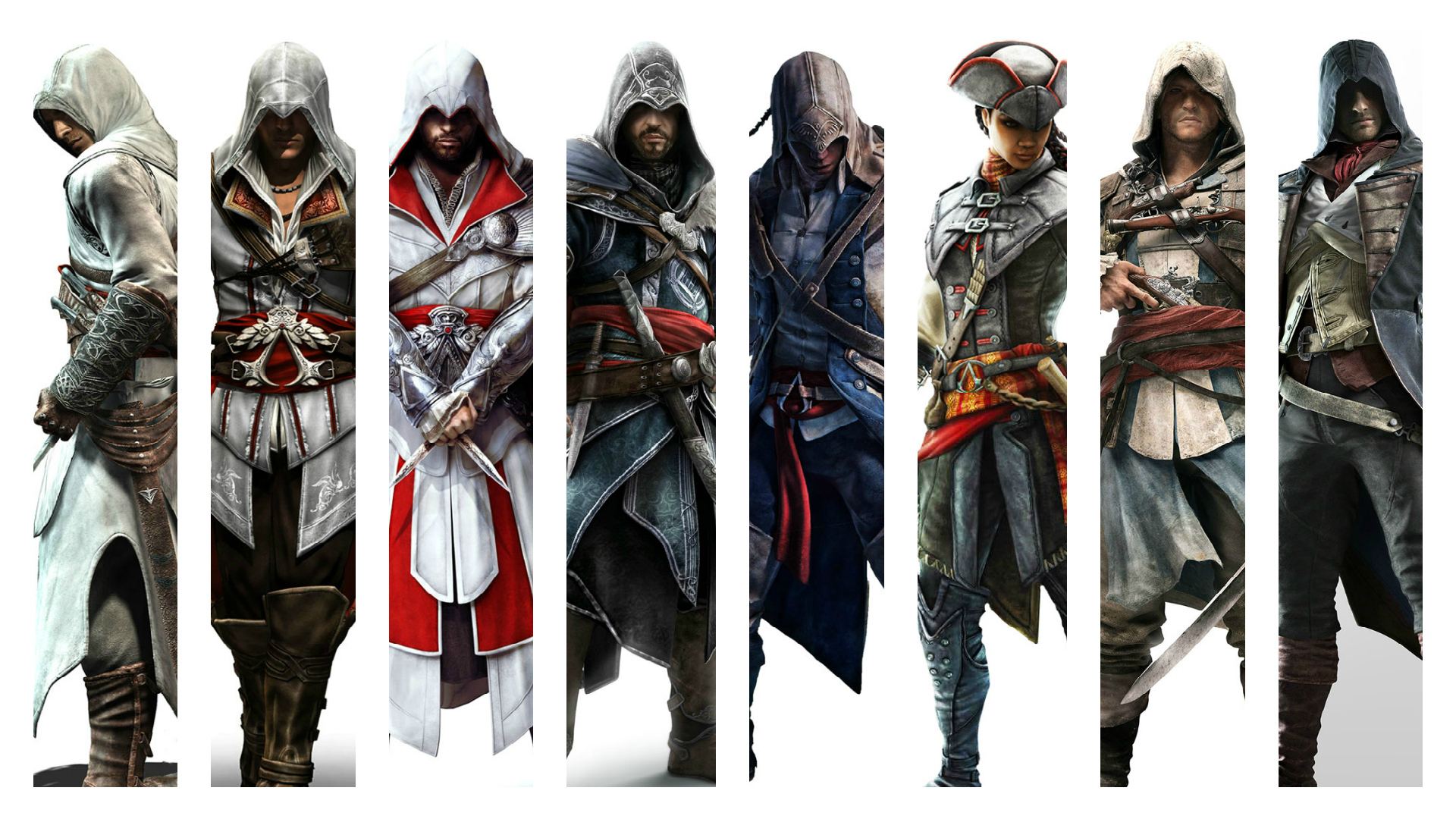Assassin S Creed Franchise Protagonist Wallpaper By Theomeganerd