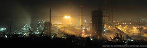Duisburg Industrial Panorama by Night