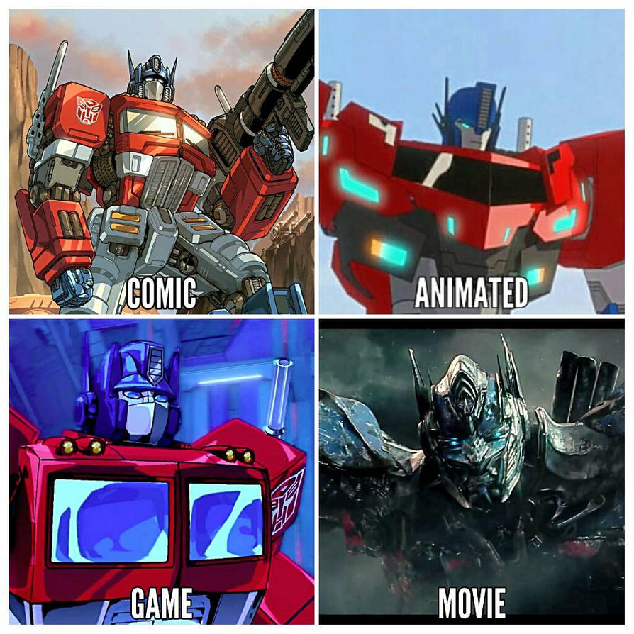 Character Collage: Optimus Prime by sassmos09