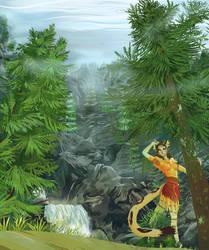 Aravi Falls by PictoShaman