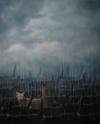 Kote in The Rain by IlonaPankevich