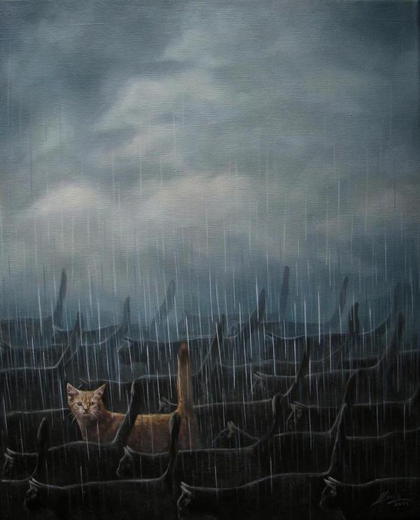Kote in The Rain by ilonaxxx