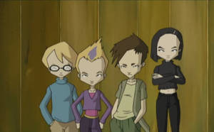 Team Lyoko in the Factory Lift by ArgentDandelion