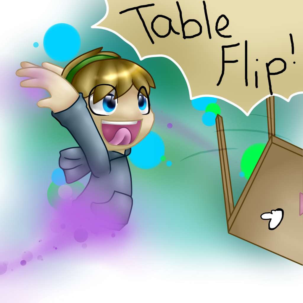 PewDiePie Table Flip by TruffulaThePsyco
