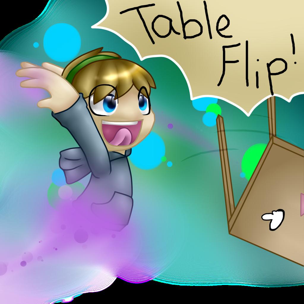 PewDiePie Table Flip by TruffulaThePsyco