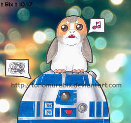 R2-D2 is THRILLED with his new friend by TonomuraBix