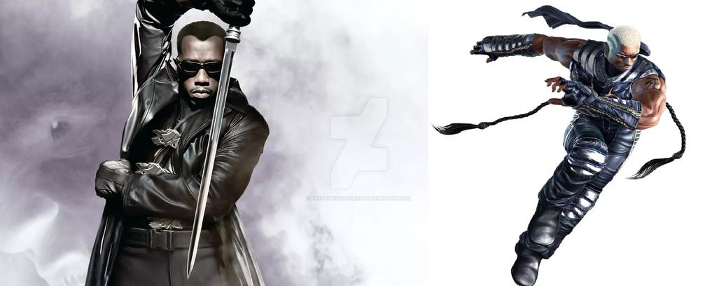 Wesley Snipes as Raven by FreddyNightmare89