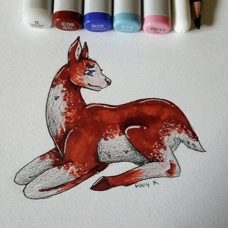 Copic Mother Deer by NecromancerDragonkin