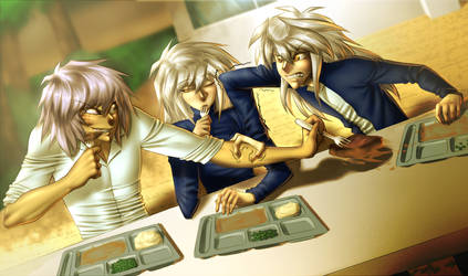 Bakura's at lunch by AngelLust155