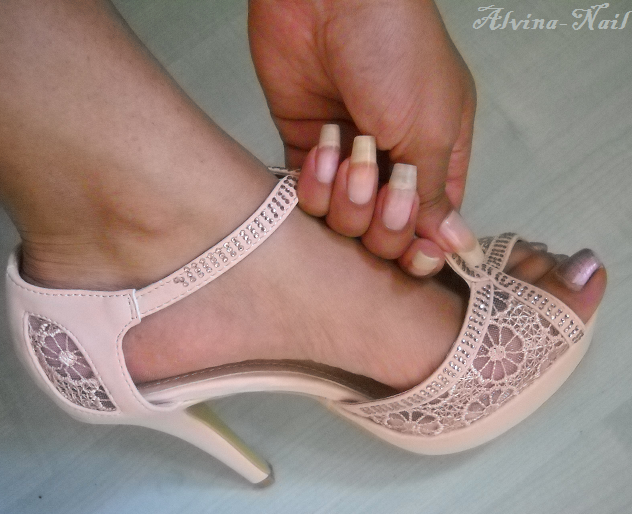 Nude Nails And Heels by alvina-nail on DeviantArt
