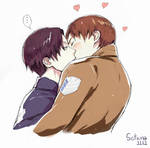can i Kiss you -Eren x Revaille