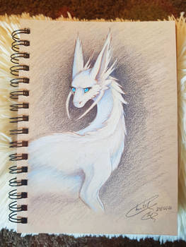 Ariadne prismacolor sketch