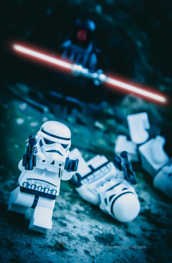 Run for your life Trooper! by arkhamjo
