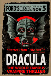 Dracula-Ford's Theater Poster by 4gottenlore
