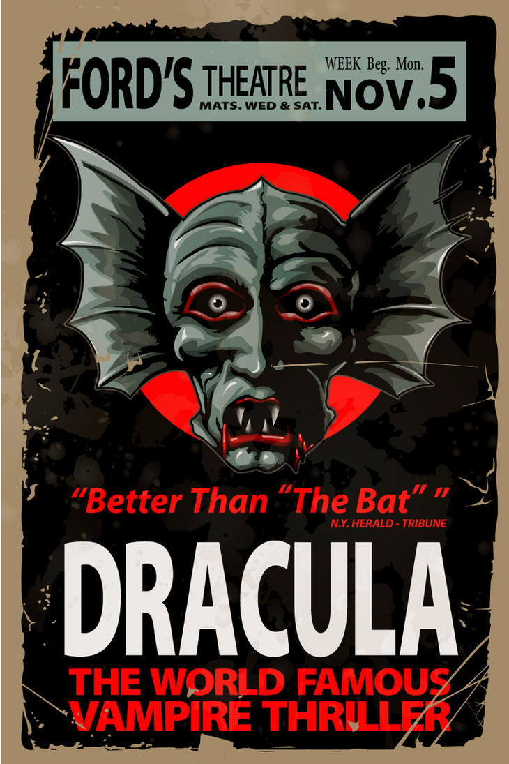 Dracula Fords Theater Poster By 4gottenlore