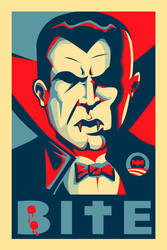 Dracula-Bite-Obama hope style by 4gottenlore