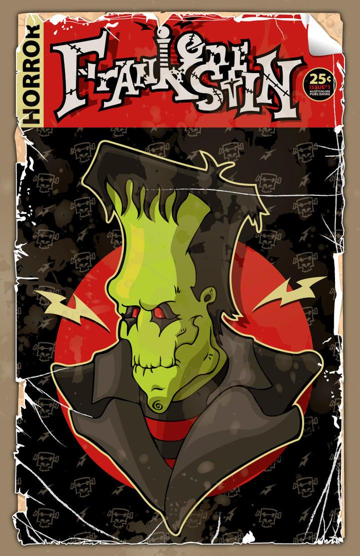 Frankenstein Book Cover Art : Frankenstein comic book cover by gottenlore on deviantart