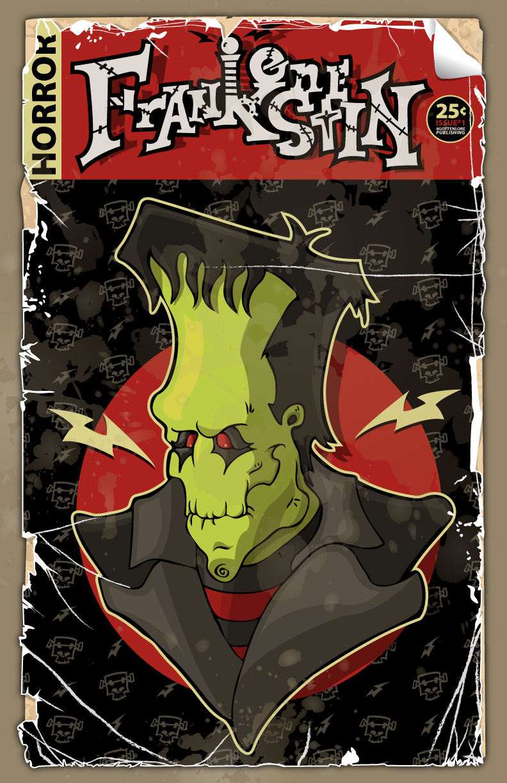 Frankenstein-Comic Book Cover by 4gottenlore