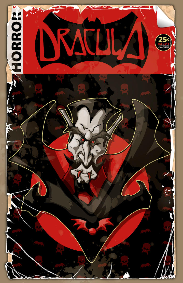 Dracula-Comic Book Cover by 4gottenlore