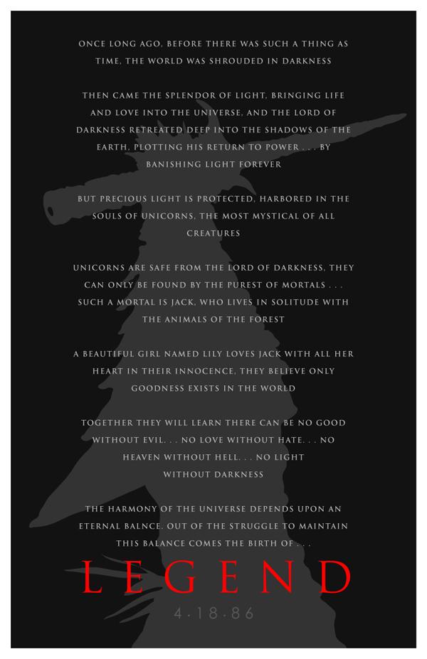 Ridley Scott Legend 1986 by 4gottenlore