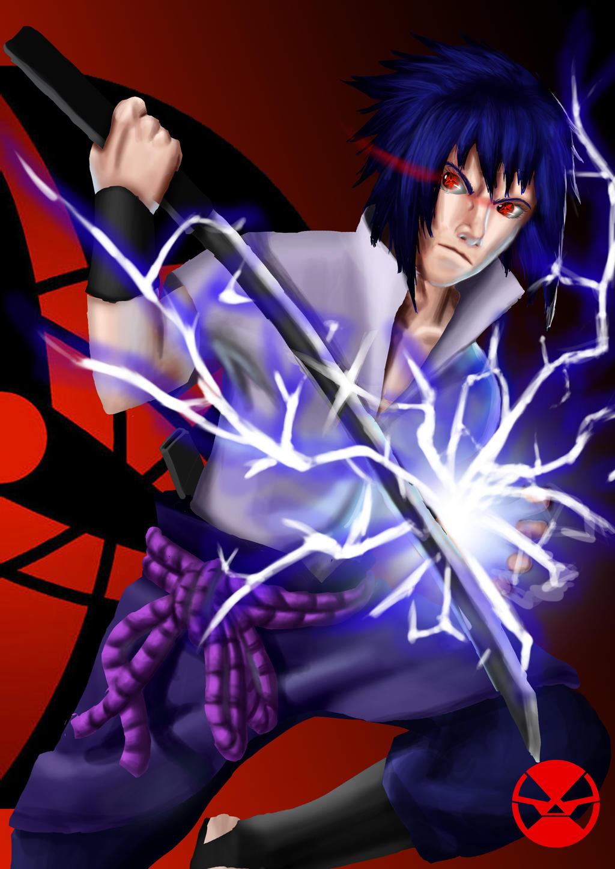 Sasuke uchiha: chidori by BlueFenixH4 on DeviantArt