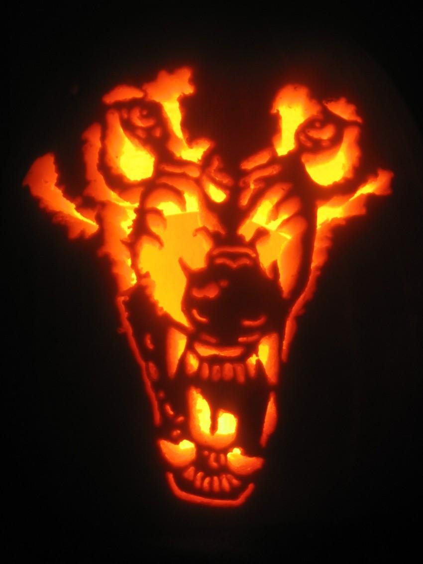 Werewolf Pumpkin Stenc...