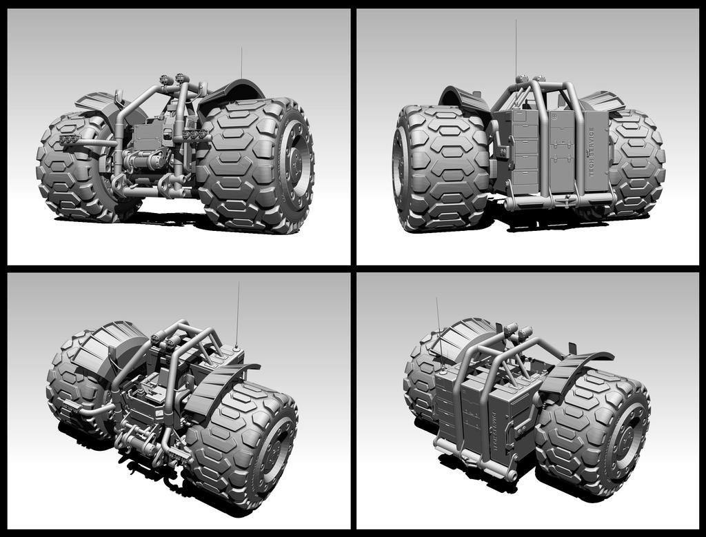 VA-17 Heavy technical vehicle concept (WIP 2) by VladimirAranovich