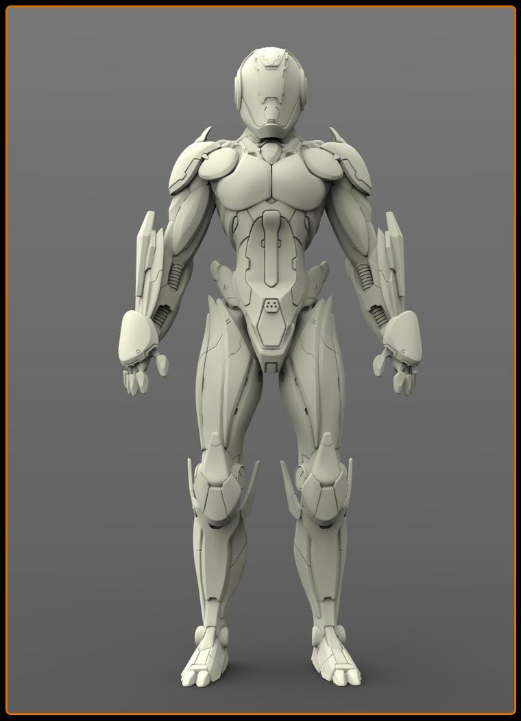 Concept robot (WIP) by VladimirAranovich