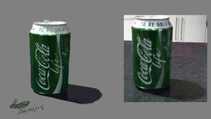 Cocacola painting from life