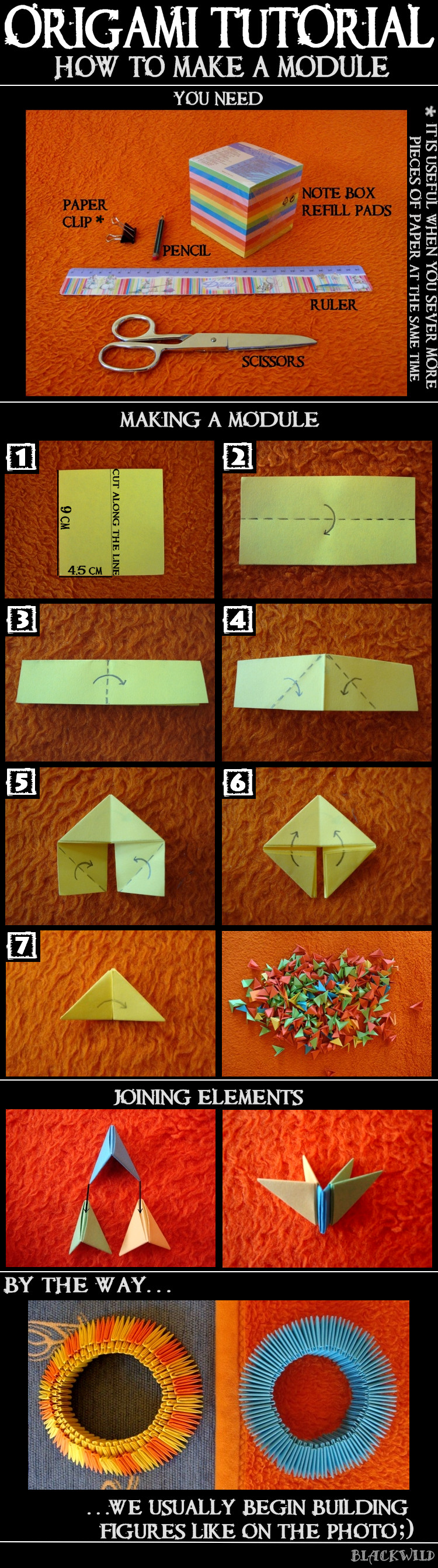 Origami Tutorial - Module by blackwild