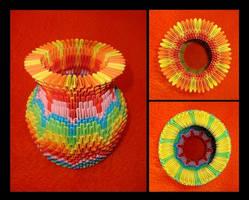 Origami - Vase by blackwild