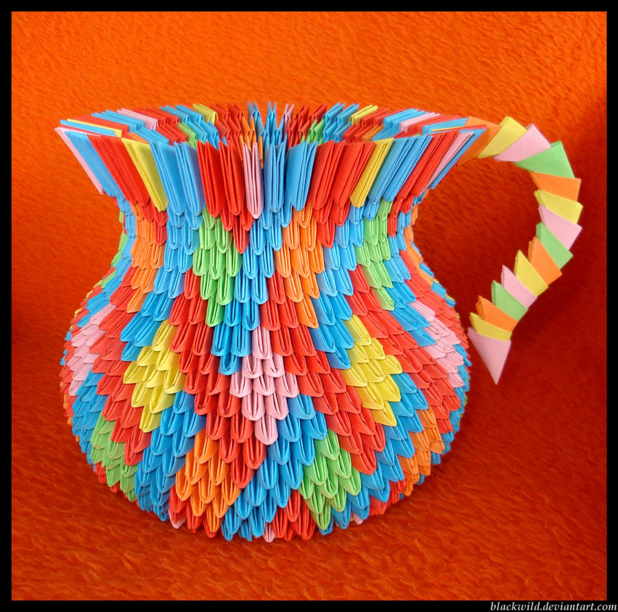 Vase 3d Origami Diagram: Origami Vase With Ear By Blackwild On DeviantArt