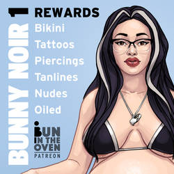 Pregnant Bunny Noir Art Rewards for my Patrons