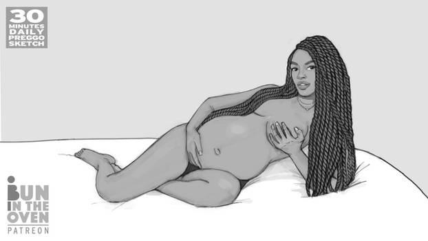 30 minutes Daily Preggo Sketch no.68