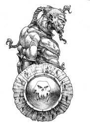 Orc with a shield by IanLIR